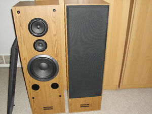 PIONEER TOWER SPEAKERS WITH RECEIVER