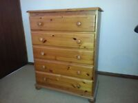 Wardrobe, chest of drawers and x2 bedside cabinets.