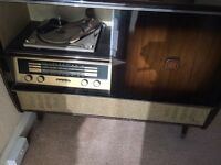 Vintage grammar phone record player
