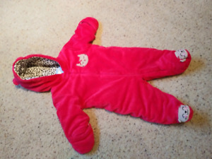 6 to 9 month thick fleece snowsuit