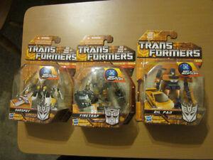 Transformers Scout Class FireTrap, Sunspot and Oilpan
