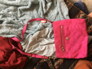 Pink Coach Purse with Matching Wallet