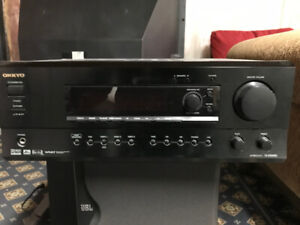 Onkyo receiver with JBL surround speakers with