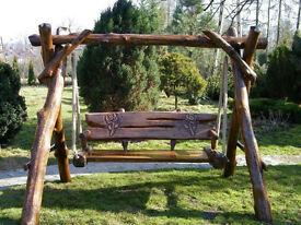 Oak solid wood Porch Garden swing