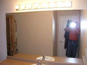 6 ft wide x 3.5 ft high mirror