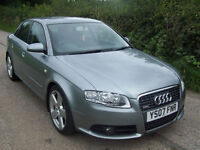 "2007 07 Plate Lovely Audi A4 2.0TDI S Line , Liquid Grey , 18"" Alloys , Fsh .."