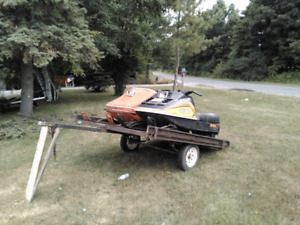 Skidoos and trailer for sale