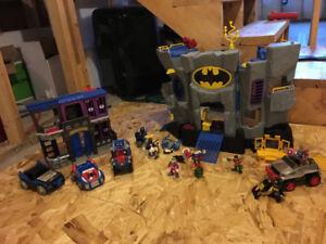 Imaginext Batcave and Superhero Vehicles