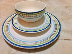 Dish ware set for three- very good condition