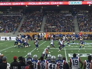 Blue bombers vs Tiger Cats Wednesday August 3rd