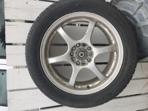 4 Hankook Winter Tires and Steel Rims for Sale