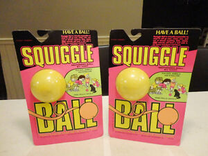 Two Vintage Late 80's Hart Squiggle Balls - First Release -Rare
