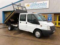 FORD TRANSIT TIPPER 2.2 350 DOUBLE CAB 1D 99 BHP DIESEL 2014 / 63 PLATE