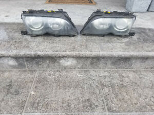 BMW E46 3 Series Xenon Headlight Set 02-05 Good Condition OEM