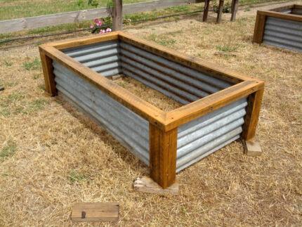 Corrugated Iron Corrugated Iron Raised Garden Beds