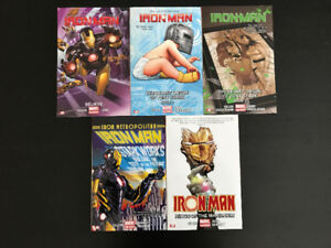 5 IRON MAN GRAPHIC NOVELS: Mint/Near Mint Condition!