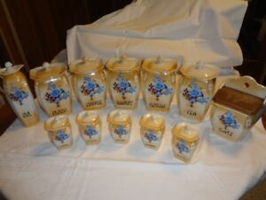 Victoria China Canister Set