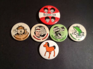 National Lampoon 1970's, The Beatles 1964 ,Pokey Buttons ( 6 )
