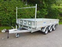 Dale Kane flatbed trailer 3.5 ton tri axle trailer 12x6