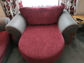 3 seater sofa and large cuddle chair
