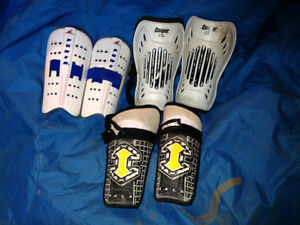 Soccer Shoes Cleats and shin pads guards for kids child