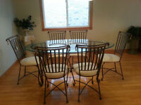 Elegant Wrought Iron Dining Table