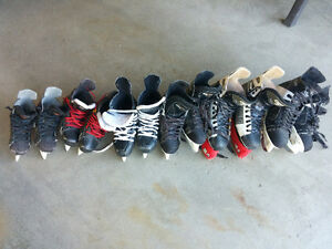 Multiple skates all boys and mens hockey