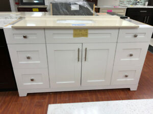 showroom vanities on SALE now!! various sizes available!!