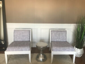 2 refinished chairs
