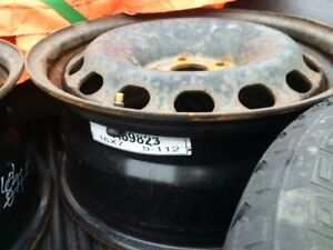 Four VW 5 X 112 rims, two rims with winter tires 205/55/16