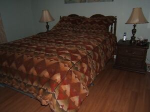 QUEEN SIZE BEDSPREAD OR COMFORTER AND SHAMS
