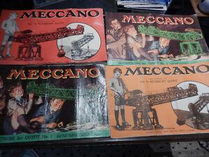 vintage meccano sets from 20's