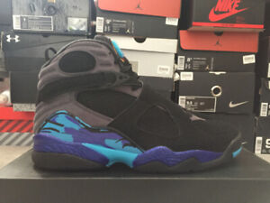 Jordan Retro Aqua 8 Size 8.5 DS with Receipt