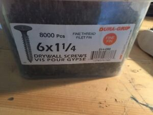 "Drywall Screws, #6x1-1/4"",8000 pc.'s."