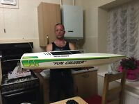 Petrol Speed Boat - 30cc - 4FT Long - Comes With Futaba Radio Control - Might Swap :)