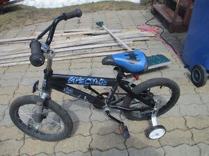 vélo 16bpouces avec petites roues de sécurité