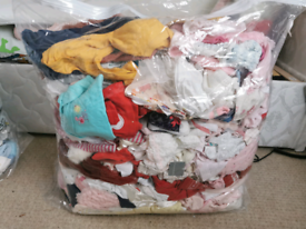 Large bundle of baby girls clothes