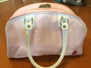 Lululemon Sugar Tote Shoulder Handbag - Pink Bowler Gym Bag
