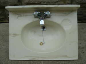 Vanity Sink Top with Faucets