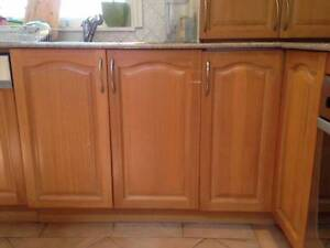 L shape kitchen with cabinets, sink and granite counter Campsie Canterbury Area Preview