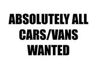 Cars cars vans vans wanted scrap non runners spares collected same day