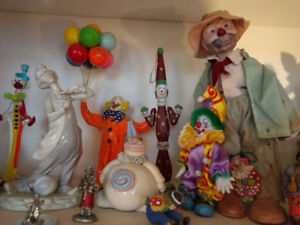 Colourful Clown Collection - glass, pottery, metal & more