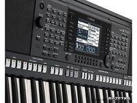 YAMAHA PSR-S750 Keyboard, Music Rest, user manual