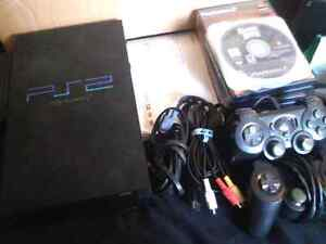 Ps2 with controllers and games