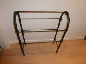 Wrought Iron Designer Towel Rack AND QUILT STAND