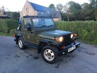 Asia rocsta, 4x4 Jeep Wrangler replica, low miles long mot