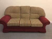 3 seater fabric sofa for sale.