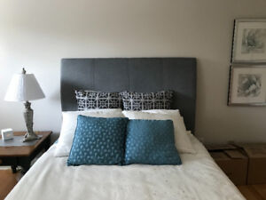 Queen size bed , frame  and Head board - moving , quick sale!