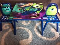 Monsters inc table and chairs