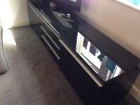 Besta IKEA Black Gloss TV Unit